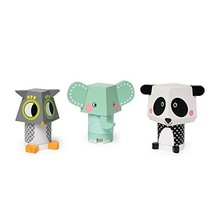Manhattan Toy Mix & Match Owl, Elephant & Panda Magnetic Wooden Stacking... - $26.32