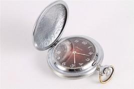 Vintage Old Soviet Russian Molnija Molnia Full Hunter Pocket Watch. 18 Jewels. - $70.39