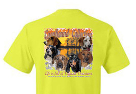 T-shirt Shirt Hound Dog Coon Hunter Raccoon Hunting Life Is Full Of Decisions - $12.99+