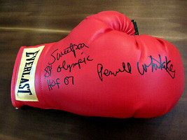 Pernell Whitaker Sweet Pea 84 Olympic HOF07 Signed Everlast Boxing Glove Jsa Gem - $197.99