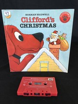 Clifford's Christmas Big Red Dog Santa Read Along Book and Cassette Scho... - $15.19