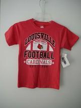 NCAA Louisville Cardinals Children Boys Short Sleeve Blend Tee Sz 6 NWT - $11.88