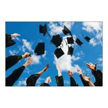 Graduation Caps Backdrop Banner 9 x 6 Feet Assembled (3 Pieces) - $18.99