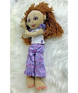 Friends 2B Made Doll Plush Stuffed Animal Toy Brown Pony Tails Hair In P... - $11.58