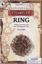 SteamPunk Cosplay Victorian Copper Propeller Gears Large Finger Ring NEW... - $8.70