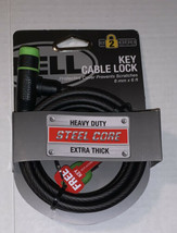 Bell Key Cable Bike Lock 8 mm 6 ft Extra Thick Level 2 Security Steel Core Black - $9.79