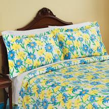 Blue and Yellow Daisy Fleece Pillow Sham, Blue … - $4.20