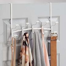 mDesign Decorative Metal Over Door 10 Hook Storage Organizer Rack - for Coats, H image 5