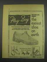 1957 Hutton Play-Boy Shoes Ad - For men and women - the easiest shoe on ... - $14.99