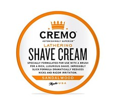 Cremo Lathering Shave Cream, Specially Formulated for Use With a Brush for a Lux