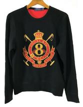 Polo Ralph Lauren Classic Fit Cookie Crest Sweatshirt  Black Medium - $97.00