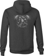 Zip Up Hoodie Indian Chief Hawk Spirit Animal Dream Catcher Heritage - $39.59+