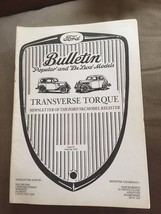 "JUNE/JULY 1993 ""Ford Bulletin Transverse Torque"" Newsletter - $2.61"