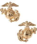 Gold USMC Globe & Anchor US Marines Logo Insignia Set - $10.99