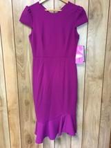 Betsey Johnson Womens Scuba Crepe Ruffle Hem Dress; Size 2 - $29.99