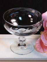 Vintage Princess House Heritage Crystal Dessert Sherbet Bowl Dish Etched Floral  - $14.99