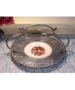 Vintage Faberware Aluminum and China Basket, Wrought Handle, Triumph American  - $39.99