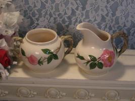 Vintage Franciscan Pottery Desert Rose Cream and Sugar Set, 1950's Dinne... - $14.99