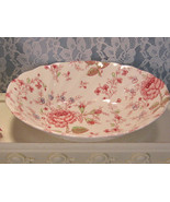 Vintage Johnson Brothers Rose Chintz Vegetable Serving Bowl, Made in Eng... - $19.99