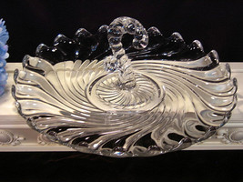 Fostoria Glass Crystal Colony Center Handle Serving Plate Tray, Vintage ... - $44.99