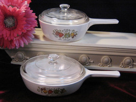 Corning Ware Spice of Life Menuette Pan Skillet Vintage Pyroceram Glass ... - $39.99