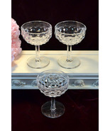 Fostoria Glass American Crystal Footed Tall Champagne or Sherbet, Set of... - $22.99