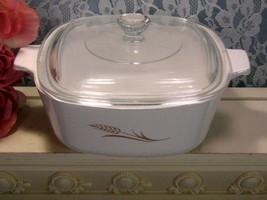 Corning Ware Pyroceram Golden Wheat Casserole, 1.5 Quart or Liter, Vinta... - $32.99