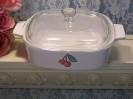 Corning Ware Pyroceram Fruit Basket Casserole, 1 Quart Liter Size, Vintage  - $29.99
