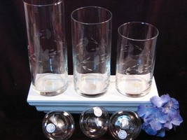 Vintage Princess House Crystal Heritage Cylinder Floating Candles, Six Piece Set - $49.99