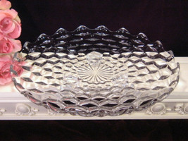 Vintage Fostoria Glass American Crystal Footed Cake Plate Bowl, Elegant ... - $44.99