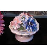Vintage Floral Figurine English Bone China, Staffordshire Throley, 1960s Mid Cen - $29.99