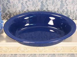 Vintage Homer Laughlin Fiesta Riveria Cobalt Blue Oval Vegetable Serving... - $24.99