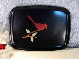 Vintage Couroc of California Cardinal Red Bird Serving Tray, 1960s Mid C... - $29.99