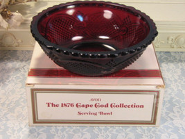 1980s Vintage Avon 1876 Cape Cod Ruby Red Round Vegetable or Serving Bow... - $19.99