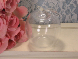 Vintage Princess House Crystal Clear Apple Figurine Mid Century Glass Dinnerware - $19.99