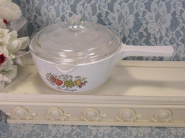 Vintage Corning Ware Spice of Life Pyroceram Menuette Skillet Saucepan C... - $21.99