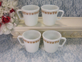 Vintage Corelle Corning Ware Pyrex Glass Gold Butterfly Mug, Coffee Tea   - $19.99
