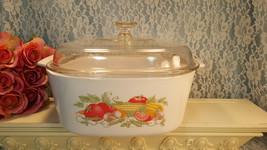 Corning Ware Garden Harvest Casserole 5 Liter Quart Dutch Oven Vintage P... - $49.99
