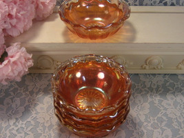 Imperial Glass Marigold Carnival Glass Diamond Point Columns, Small Berr... - $34.99