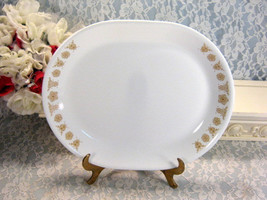 Vintage Corelle Corning Ware Gold Butterfly Oval Serving Platter, 1970s Mid Cent - $19.99