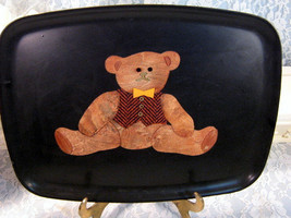 Vintage Couroc of California Teddy Bear Serving Tray, 1960s Mid Century ... - $39.99
