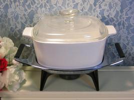 Vintage Corning Ware White Centura Coupe Casserole Set, Candle Server Ra... - $54.99
