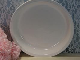 Corning Ware Pyroceram Winter Frost White Pie Pan Plate, Vintage Mid Cen... - $16.99