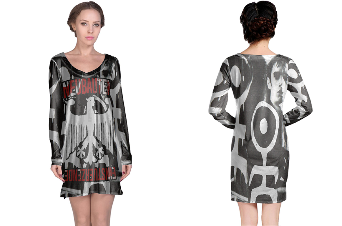 Primary image for Einstürzende Neubauten  Full print 3D All Over Print Long Sleeve Night Gown