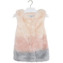 Mayoral Big Girls Tween 8-18 Gradient Colorblock Faux Fur Vest