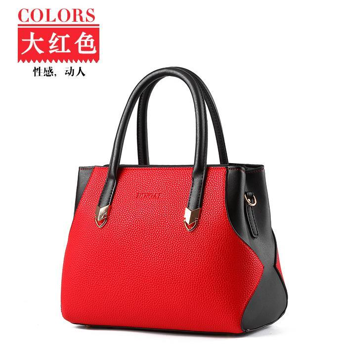 Fashion New Leather Shoulder Bags Large Mosaic Style Tote Bag Mixed Color H127-8