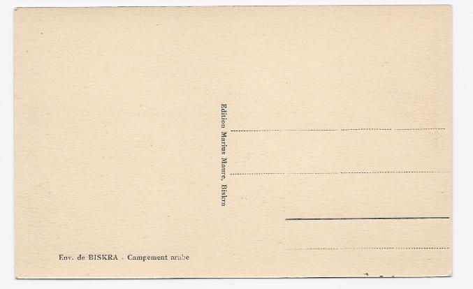c1920 - Arab Encampment near Biskra, Algeria - Unused