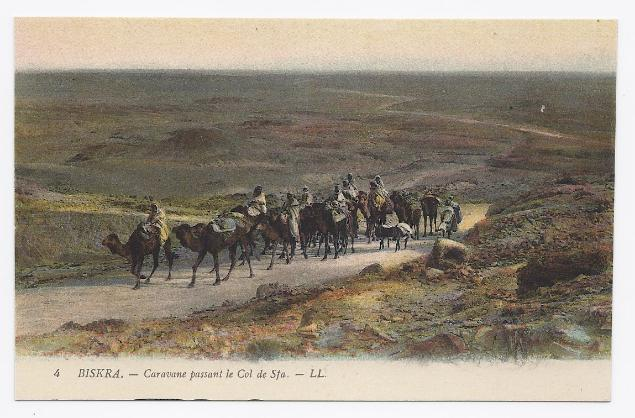 c1920 - Caravan from the Col de Sfa near Biskra, Algeria - Unused