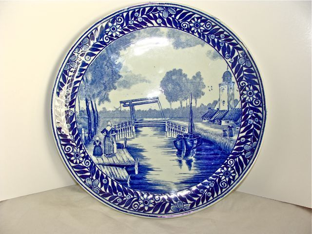 DELFT BLUE HOLLAND PLATE BOCH WINDMILL TRANSFERWARE
