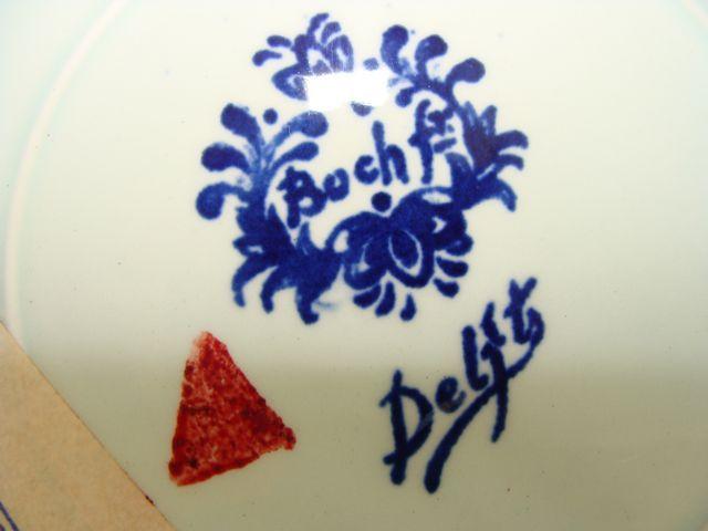 DELFT BLUE HOLLAND PLATE BOCH WINDMILL TRANSFERWARE